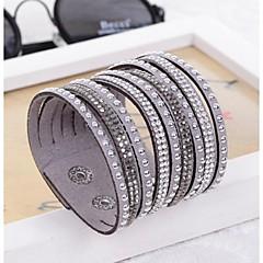 preiswerte Armbänder-Damen Wickelarmbänder / Lederarmbänder - Harz, Diamantimitate Einzigartiges Design, Modisch Armbänder Purpur / Blau / Kamel Für Hochzeit / Party / Alltag