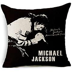 modernia tyyliä Michael Jackson laulaa kuviollinen puuvilla / pellava koriste tyyny
