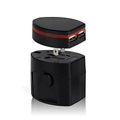preiswerte Kabel & Adapter-Universal-Reisestecker Steckdose Adapter-Konverter-us uk au europa mit Dual-Port-USB-Ladegerät