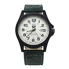 preiswerte Tolle Angebote auf Uhren-Herrn Armbanduhr Kalender Leder Band Freizeit / Modisch Braun / Grün / Khaki