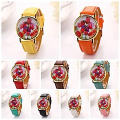 Mujer Reloj de Moda Reloj de Pulsera Cuarzo Banda Flor
