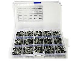 billiga Transistorer-15 sorters varje 40 mount till totalt 600-600 med bara 15 låda med transistor