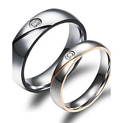 お買い得  指輪-女性用 ゴールドメッキ / 18Kゴールド カップルリング - ファッション リング 用途 結婚式 / パーティー / 日常