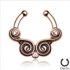 cheap Nose Rings & Studs-Body Piercing Jewellery Fashion Stainless Steel  Crystal Nose Ring Body Jewelry Piercing