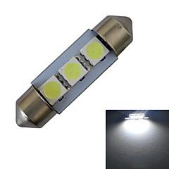 cheap LED Bulbs-60 lm Festoon Decoration Light 3 leds SMD 5050 Cold White DC 12V