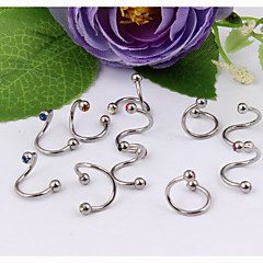 olcso Testékszerek-Női Testékszer Ajak piercing Labret, Lip Piercing Jewelry Fül piercing Kristály Rozsdamentes acél Egyedi Divat Ékszerek ÉkszerekParti