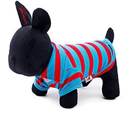 お買い得  猫の服-ネコ 犬 Tシャツ 犬用ウェア 縞柄 コットン コスチューム ペット用