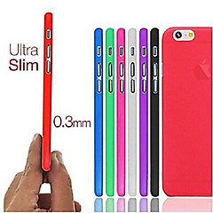 Недорогие Кейсы для iPhone 6-Кейс для Назначение Apple iPhone 6 iPhone 6 Plus Ультратонкий Матовое Кейс на заднюю панель Сплошной цвет Твердый ПК для iPhone 6s Plus
