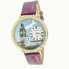 お買い得  大特価腕時計-女性用 クォーツ ダミー ダイアモンド 腕時計 ファッションウォッチ 模造ダイヤモンド PU バンド チャーム