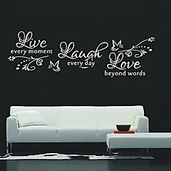cheap Wall Art-Animals Fashion Words & Quotes Wall Stickers Words & Quotes Wall Stickers Decorative Wall Stickers, Vinyl Home Decoration Wall Decal Wall