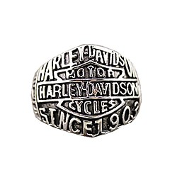 "Retro Ren's Titanium Steel Ring with""HARLEY-DAVIDSON SINCE 1903""(1PCS) Jewelry Christmas Gifts"
