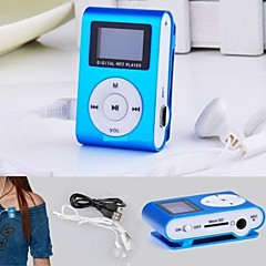 8g mp3 mini-USB Lettore clip de la pantalla LCD reproductor de radio recargable