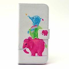 Для Кейс для iPhone 6 / Кейс для iPhone 6 Plus Кошелек / Бумажник для карт / со стендом Кейс для Чехол Кейс для Слон ТвердыйИскусственная