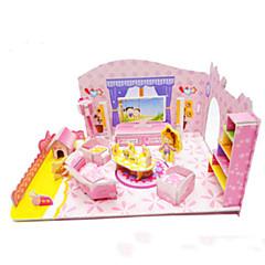 رخيصةأون -ديي فتاة الوردي غرفة نوم على شكل 3D اللغز