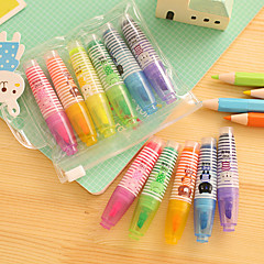 Cute Fluorescent Highlight Set(6 PCS/Set)