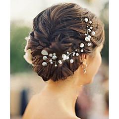 6pcs / lot pearl hairpins headpieces para festa elegante estilo casamento