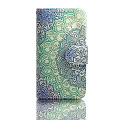 Varten Samsung Galaxy kotelo Korttikotelo / Lomapkko / Tuella / Flip Etui Kokonaan peittävä Etui Mandala Tekonahka SamsungS6 edge / S6 /