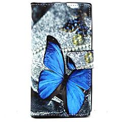 용 노키아 케이스 지갑 / 카드 홀더 / 스탠드 케이스 풀 바디 케이스 버터플라이 하드 인조 가죽 Nokia Nokia Lumia 830