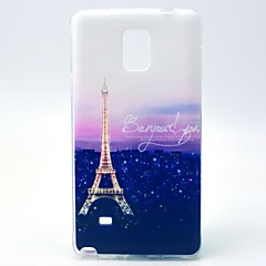 Mert Samsung Galaxy Note Minta Case Hátlap Case Eiffel torony TPU Samsung Note 4