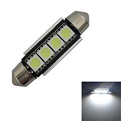 お買い得  LED 電球-80-90 lm Festoon デコレーションライト 4 LEDビーズ SMD 5050 クールホワイト 12 V