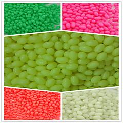 1000pcs/ 4*6Fishing Plastic Hard Beads Luminous Oval Beads Fishing Terminal Tackle Lures