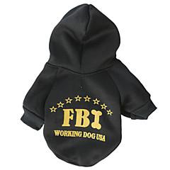 お買い得  犬用ウェア&アクセサリー-ネコ / 犬 パーカー 犬用ウェア 警察 / 軍隊 ブラック コットン コスチューム ペット用 男性用 / 女性用 ファッション