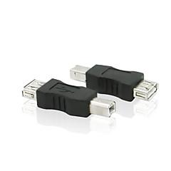 USB 2.0 Type A Female, hogy B típusú USB 2.0 férfi nyomtató vezeték hosszabbító adapter