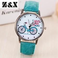 お買い得  大特価腕時計-女性用 リストウォッチ クォーツ ホット販売 レザー バンド ハンズ ヴィンテージ ファッション ワードダイアル腕時計 ブラック / 白 / ブルー - レッド グリーン ブルー