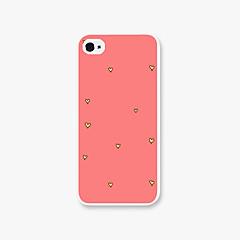 Недорогие Кейсы для iPhone 5-Для Кейс для iPhone 5 С узором Кейс для Задняя крышка Кейс для С сердцем Твердый PC iPhone SE/5s/5