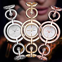 お買い得  大特価腕時計-ASJ 女性用 ドレスウォッチ 日本産 カジュアルウォッチ ステンレス 合金 バンド ハンズ バングル エレガント シルバー / ゴールド / ローズゴールド - シルバー ゴールデン ローズゴールド 1年間 電池寿命 / SSUO SR626SW