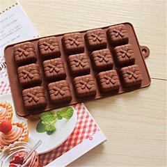 bakeware caixa de presente de silicone em forma de moldes de cozimento para o chocolate