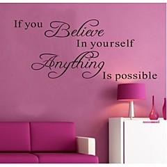 워드&인용구(부호) 벽 스티커 플레인 월스티커 데코레이티브 월 스티커,비닐 자료 이동가능 홈 장식 벽 데칼