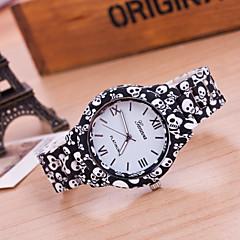 billige Blomster-ure-Dame Modeur Armbåndsur Quartz Plastik Bånd Blomst Sort