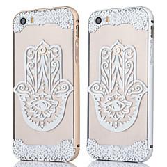 Для Кейс для iPhone 5 Прозрачный Кейс для Задняя крышка Кейс для Кружевной дизайн Твердый PC iPhone SE/5s/5