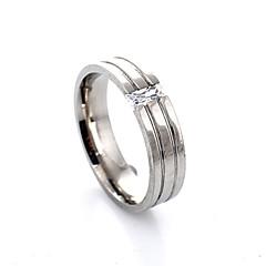 preiswerte Ringe-Damen Bandring - Krystall, Aleación Modisch 7 Silber Für Party Alltag Normal