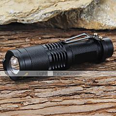お買い得  携帯式フラッシュライト-LED懐中電灯 LED 1200 lm 5 モード LED バッテリー&チャージャー付き 焦点調整可 耐衝撃性 ストライクベゼル キャンプ/ハイキング/ケイビング 日常使用 ワーキング 登山 ブラック