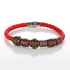 halpa Bracelet-Miesten Naisten Amuletti-rannekorut Nahka Kupari Korut Kausaliteetti Pukukorut