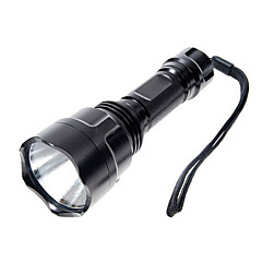 UltraFire LED Flashlights / Torch LED 1000 lm 5 Mode Cree XP-E R2 with Battery and Charger Camping/Hiking/Caving Black