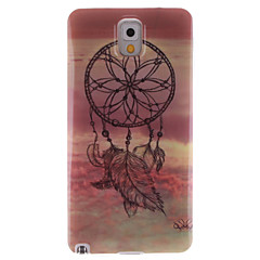 For Samsung Galaxy Note IMD Etui Bagcover Etui Drømmefanger TPU for Samsung Note 3