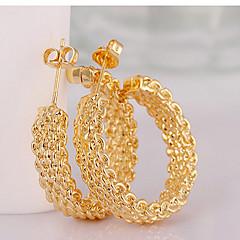Halka Küpeler Moda Circle Shape Altın Mücevher Için