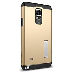 halpa Galaxy Note 4 kotelot / kuoret-Etui Käyttötarkoitus Samsung Galaxy Samsung Galaxy Note Iskunkestävä Tuella Takakuori Panssari PC varten Note 4