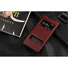 Voor Sony hoesje / Xperia Z3 met standaard / met venster / Flip hoesje Volledige behuizing hoesje Effen kleur Hard PU-leer voor SonySony