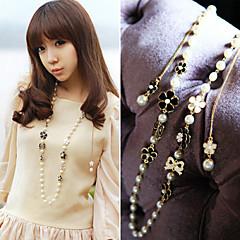 preiswerte Halsketten-Alltag/Normal - Stränge Halsketten (Perle/Aleación)