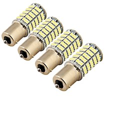 youoklight® 4pcs ba15s 5w 400lm 127x smd1206 LED blanco candeleros luz de reserva del coche / de dirección (12v)