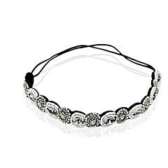 bracelete de diamante cristalino de cristal elástico estilo feminino clássico