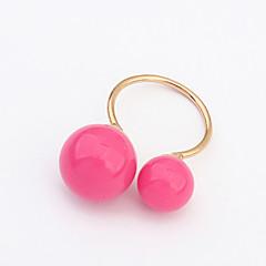 お買い得  指輪-女性用 バンドリング  -  樹脂, 合金 ファッション ジュエリー ブルー / ライトグリーン / ダークグリーン 用途 日常 カジュアル 調整可