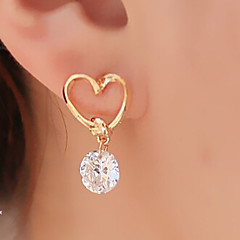 cheap Earrings-Women's Drop Earrings Basic Heart Fashion Alloy Heart Jewelry Golden Party Daily Casual Costume Jewelry