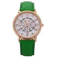 preiswerte Tolle Angebote auf Uhren-Damen Armbanduhren für den Alltag Modeuhr Quartz Schlussverkauf Leder Band Analog Charme Weiß / Blau / Rot - Grün Blau Dunkelgrün
