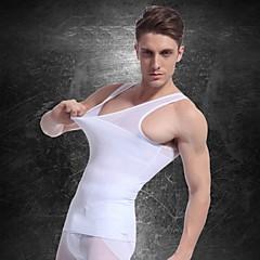 mannen afslanken ondergoed body shaper vest taille jas overhemd stevige buik buik borst