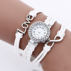 cheap Watch Deals-Women's Quartz Bracelet Watch PU Band Vintage Bohemian Fashion Black White Blue Red Brown Pink Rose